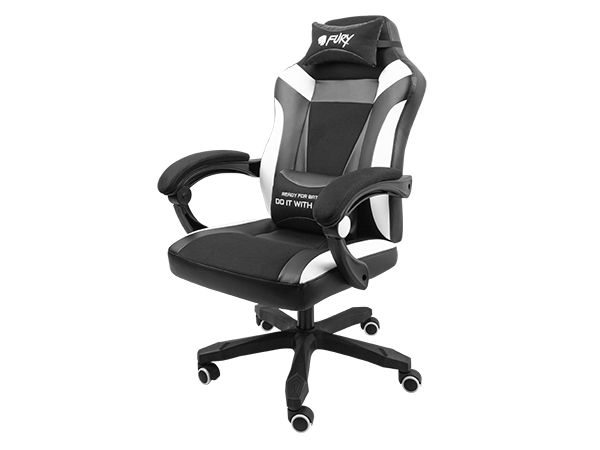 FURY Avenger M+ Gaming Chair Black/White